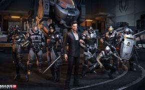 Picture Ghost, attack, the guardian, mass effect, Atlas, phantom, Cerberus, engineer, centurion, Kai LEng, avenger