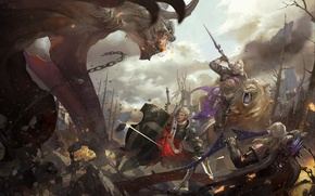 Picture weapons, monster, Leo, war, art, battle