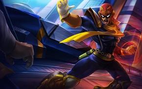 Wallpaper hero, costume, helmet, art, Nintendo, Captain Falcon, F-Zero