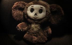 Picture smile, mood, toy, Cheburashka