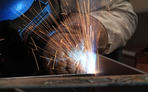 Picture personal protective equipment, sparks, welding, electrical arc, welder, heat