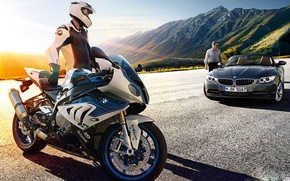 Picture car, bmw, bike