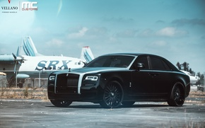 Picture Rolls Royce, Ghost, Black, Wheels, Vellano