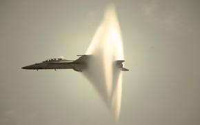 Wallpaper the plane, the sound barrier, FA/18 Super Hornet