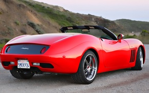 Wallpaper dream, red, sports car, convertible