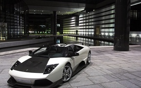 Wallpaper supercar, lamborghini, grey