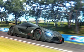 Picture car, Concept, in motion, render, race, Gran Turismo, Toyota FT-1