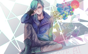 Picture look, guy, art, sitting, cla, mikaze ai, uta no prince-sama