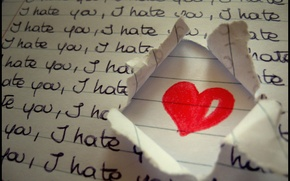 Picture love, heart, love, i hate you, heart