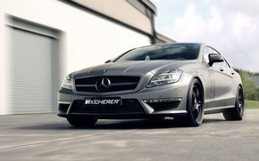 Picture grey, drives, Mercedes, Mercedes Benz CLS 63 Yachting Kicherer Tuning Roadster
