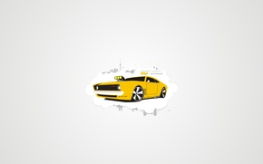 Picture machine, yellow, the city, GTS