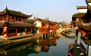 Picture river, home, China, Shanghai, Shanghai, old town, Nanxiang Ancient Town