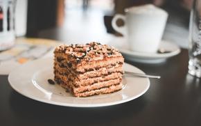 Wallpaper cake, cake, plate, dessert