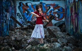 Wallpaper girl, violin, violin, Lindsey Stirling, Lindsey Stirling, violinist
