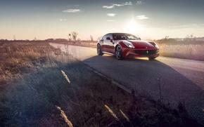 Picture Ferrari, Red, Road, FF