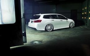 Picture tuning, white, white, Honda, Honda, Acura, Acura, Wagon, TSX
