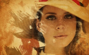 Picture watercolor, singer, painting, Lana Del Rey