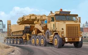Picture figure, Vincent Wai, Heavy Equipment Transport, 8x8, OSHKOSH M1070 HET, tractor