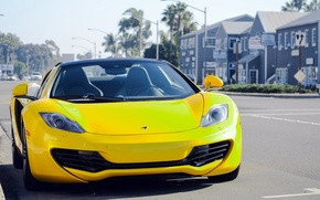 Picture McLaren, MP4-12C, Yellow, Spider