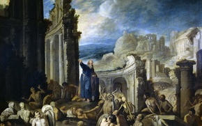 Picture picture, religion, mythology, The Vision Of Ezekiel The Resurrection Of The Dead, Francisco Collantes
