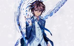 Picture tie, guy, gesture, school uniform, guilty crown, guilty crown, shu ouma