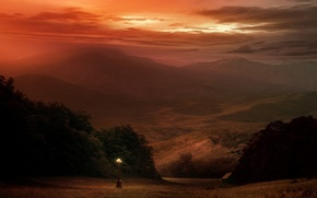 Picture mountains, Lantern, strange