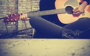 Picture music, Wallpaper, guitar, strings