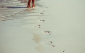 Picture sand, beach, summer, stay, feet, island, Thailand, thailand, phuket, Phuket, thai