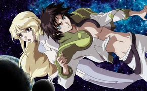 Picture space, fiction, anime, heroic age