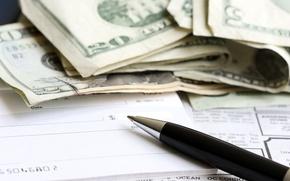 Wallpaper paper, pen, money, dollar