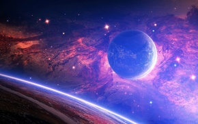 Picture stars, nebula, space, planet