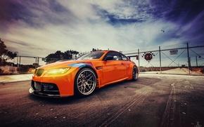 Picture the sky, BMW, GT2, orange, E92