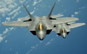 Wallpaper Flight, Fighters, F-22 raptor