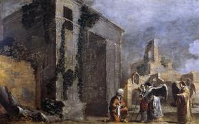 Wallpaper picture, religion, mythology, Leonaert Bramer, Abraham and the Three angels