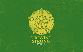 Picture golden, rose, A Song of Ice and Fire, Game of Thrones, House Tyrell, Growing Strong