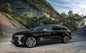 Picture Audi, black, Audi, Black, Quattro, universal, RS6, рс6