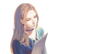 Picture Girl, shirt, notebook, chalker