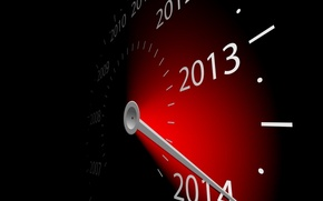 Picture graphics, watch, new year, arrow, figures, 2013, 2014