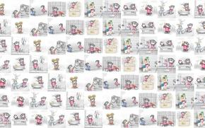 Picture mood, texture, art, Alex Dolotov, seals, children's, horoscope