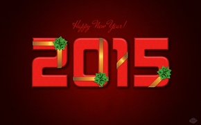 Picture tape, holiday, new year, bow, red background, 2015