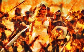 Picture Fire, Warrior, Kate Upton, Game Of War - Fire Age