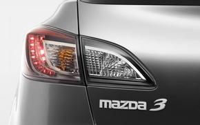 Picture macro, headlight, silver, sedan, mazda