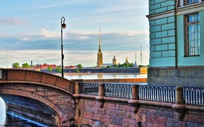 Picture Saint Petersburg, The Hermitage, Peter and Paul fortress, Winter canal, Petropavlivka