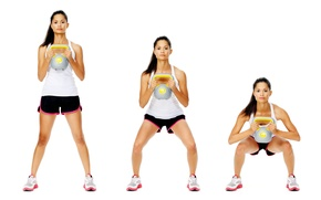 Picture pose, workout, Russian cufflink, final position, initial position
