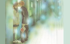 Picture books, kiss, door, corridor, school, two, art, bokura ga ita, yuuki obata, motoharu yano, nanami …