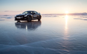 Picture ice, sea, nissan GT-R