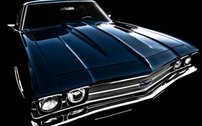 Picture retro, 1969, Chevelle, the front, Chevrolet, classic
