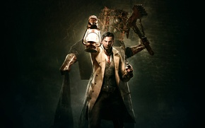 Picture male, detective, revolver, lantern, Detective, Tango Gameworks, Shinji Located Know, The Evil Within, Evil Within, …