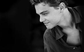 Picture portrait, shirt, face, Leonardo DiCaprio, leonardo dicaprio, profile, ULITKA, actor