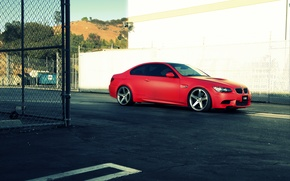 Picture BMW, BMW, red, e92, The 3 series, frontside